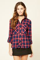 Forever 21 Snap-Button Plaid Flannel Shirt
