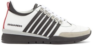 DSQUARED2 251 Striped Leather Trainers - White Black