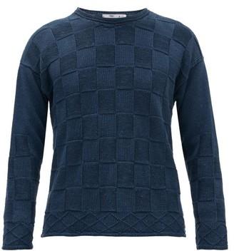 Inis Meáin Basket-knit Linen-blend Sweater - Blue