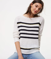 LOFT Striped Drop Shoulder Sweater