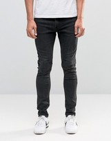 Weekday Form Super Skinny Jeans Washed Grey