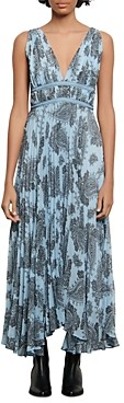 Sandro Beathe Paisley Print Maxi Dress