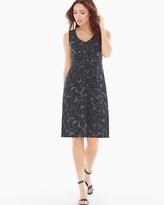 Soma Intimates Twist Sleeveless Short Dress Painted Palm Mini Black
