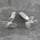 Otis Jaxon Silver Jewellery Propeller Nautical Silver Cufflinks