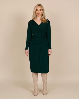 Jason Wu Collection Evening Jersey Long Sleeve Day Dress