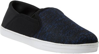 Dearfoams Men's Knit Fold-Down Closed-Back Slippers