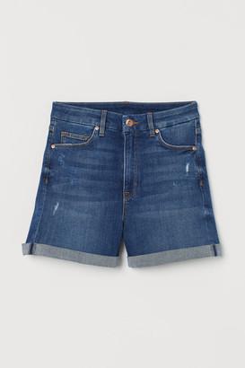 H&M Embrace High Denim Shorts - Blue