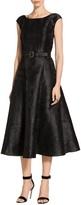 St. John Avani Rose Jacquard Dress