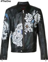 Alexander McQueen floral print jacket - men - Calf Leather/Wool - 48