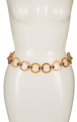 Linea Pelle Resin Link Chain Belt