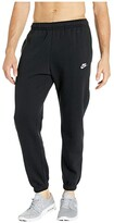 Nike NSW Club Pants Cuffed (Black/Black/White) Men's Casual Pants