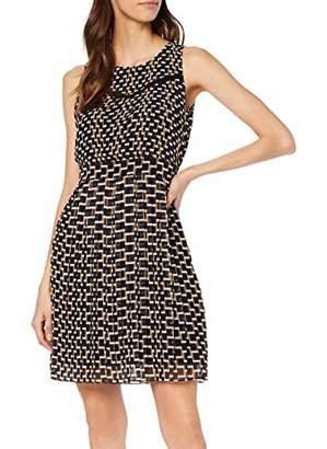 Yargıcı Womens 9YKEL7122X Pleated Round Collar Sleeveless Dress - Multicolour