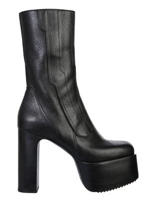 Rick Owens Chunky Platform Mid-Calf Boots