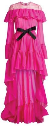 Giambattista Valli Ruffle High-Low Gown