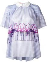 Giamba flamingo print blouse - women - Cotton/Polyester - 42