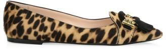 Tod's Leopard-Print Leather Ballet Flats