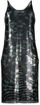 Paco Rabanne Flroal Print Metal Dress