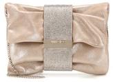 Jimmy Choo Chandra S embellished suede clutch