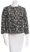 Piazza Sempione Collarless Printed Jacket