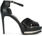 Alexander McQueen hobnail platform sandals - women - Calf Leather/Leather - 35.5