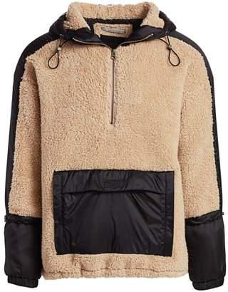 Madison Supply Faux Shearling Popover Hoodie