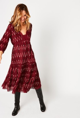 Stella Forest Bordeaux Boho Dress - 36