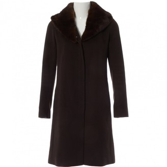 Celine Brown Wool Coats