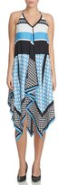 Cynthia Steffe Sleeveless Sequin-Print Handkerchief Dress