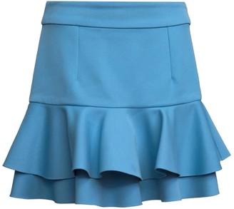 Manley Luna Ruffled Mini Skirt Blue