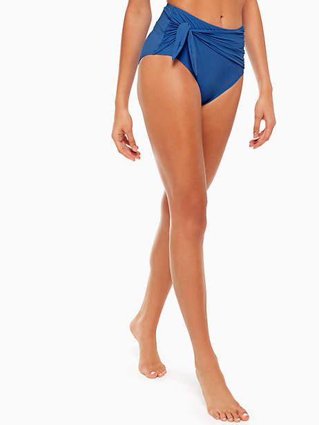 Kate Spade Grove beach tie high waist bikini bottom