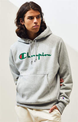 Champion Stacked Big C Flocked Pullover Hoodie