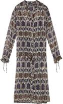 Maison Scotch Sheer Printed Shirt Dress