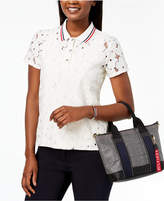 Tommy Hilfiger Lace Polo Shirt, Created for Macy's