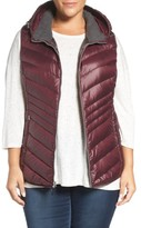 Andrew Marc Plus Size Women's Hooded Down Vest