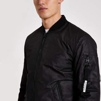 River Island Superdry black camo jacquard jacket