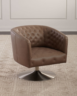 Stupendous Leather Swivel Chair Shopstyle Pabps2019 Chair Design Images Pabps2019Com
