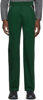 AFFIX Green and Black Track Trousers