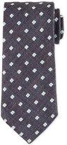 Eton Neat Floral Silk Tie, Brown