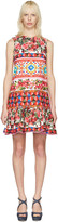 Dolce & Gabbana Pink Floral Mosaic Dress