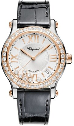 Chopard Rose Gold and Stainless Steel Happy Sport Automatic Watch 36mm