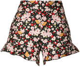 RED Valentino floral pattern shorts