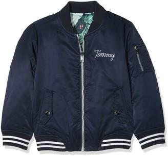 Tommy Hilfiger Girl's Thkg Dg Reversible Bomber 26 Jacket