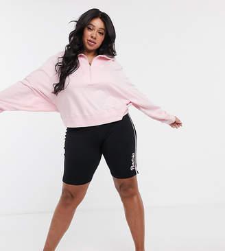 Asos DESIGN Curve Barbie jersey legging short-Black