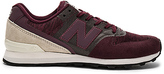 New Balance 696 Re Engineered Sneaker in Wine