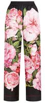 Dolce & Gabbana Rose Print Silk Pyjama Pants