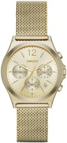DKNY Parsons Stainless Steel Gold Mesh Chrono Watch