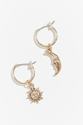 Urban Outfitters Celestial Mini Charm Hoop Earring