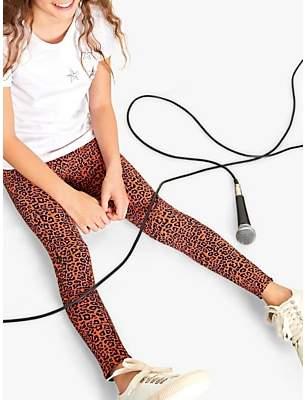Mint Velvet Mintie by Girls' Margot Leopard Print Leggings, Multi