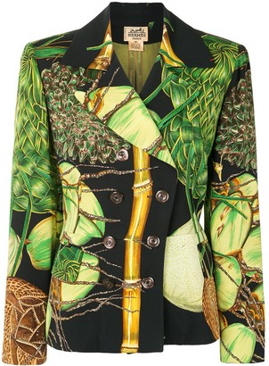 Hermes Pre-Owned Coconut Print Blazer