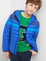 Gap ColdControl Lite colorblock puffer hoodie